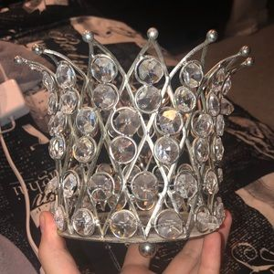 Diamond-like candle holder